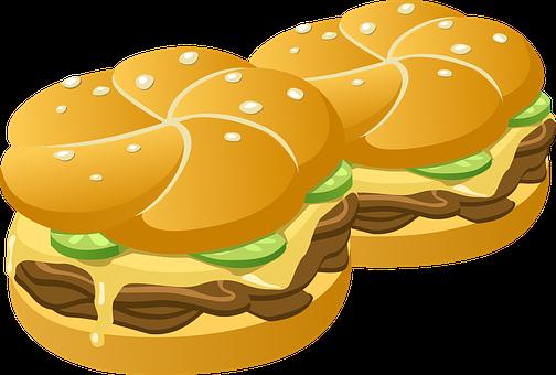 Hamburgers, Burgers, Buns, Rolls