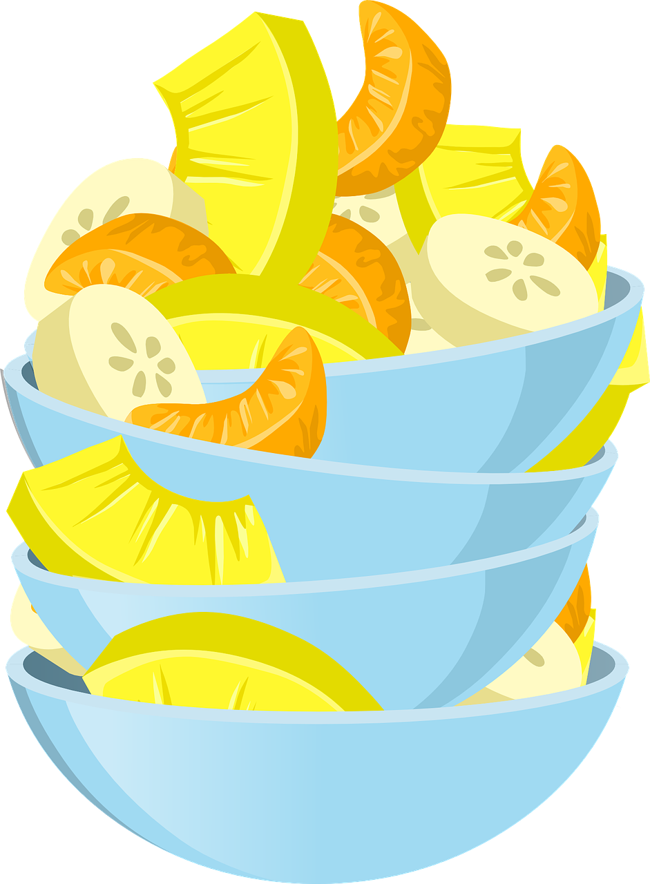 Salad Fruit Mixed Free Vector Graphic On Pixabay