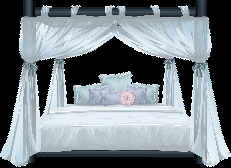 Bett, Himmel, Luxus, Schlafzimmer, Himmelbett