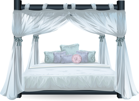 Bed, Four Poster, Luxury, Bedroom