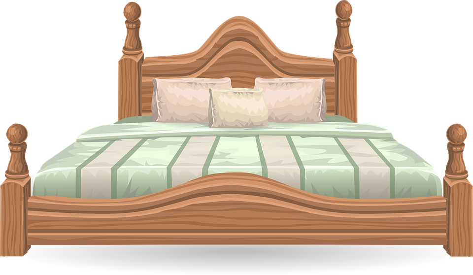 bed furniture bedroom four poster four poster free vector graphic bed furniture bedroom free image - Picture Of Furniture For Bedroom