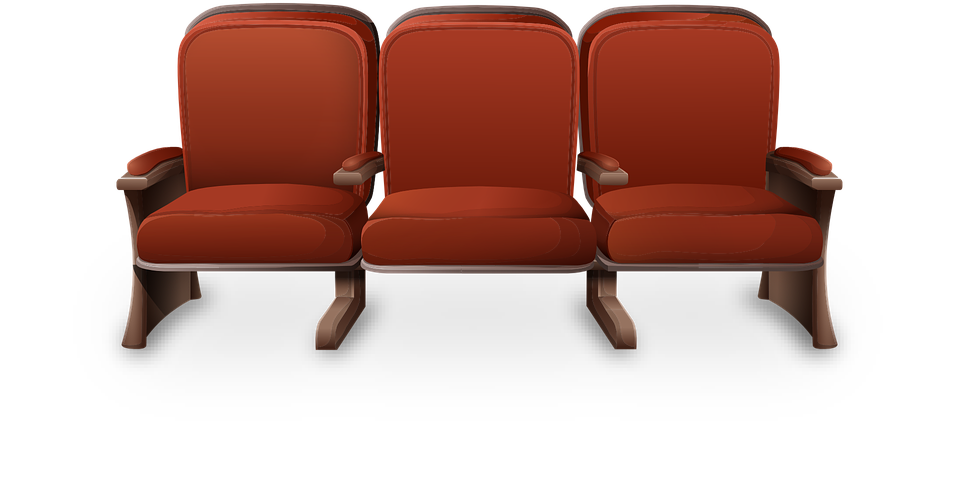 Theater, Chairs, Red, Movie, Cinema, Show