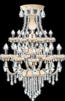 Chandelier Light Lighting Lamp Crystal Han