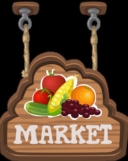 Free vector graphic: Market, Sign, Signage, Hanging - Free Image on Pixabay - 575842
