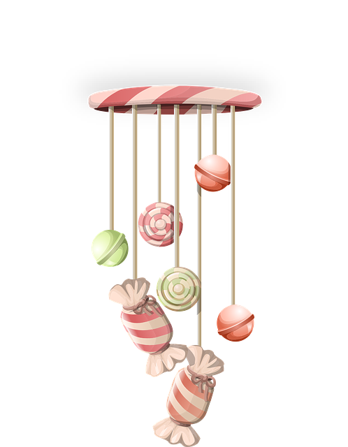wind chimes decorative ornaments 183 free vector graphic on