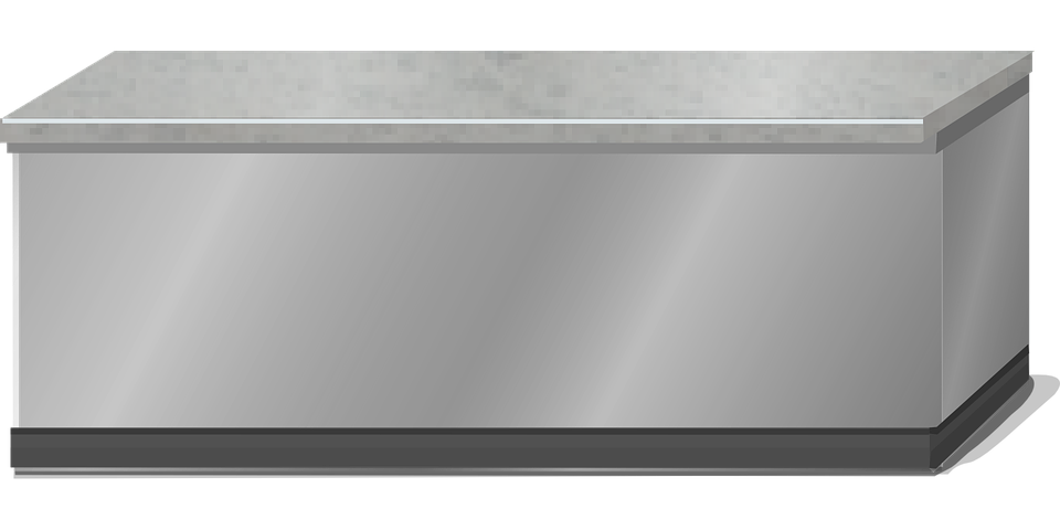 Marvelous Counter Stainless Steel Grey Free Vector Graphic On Pixabay Interior Design Ideas Inesswwsoteloinfo