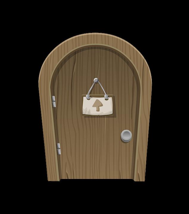 Door Png Vector Amp Creative Open Door Material Gate Cartoon