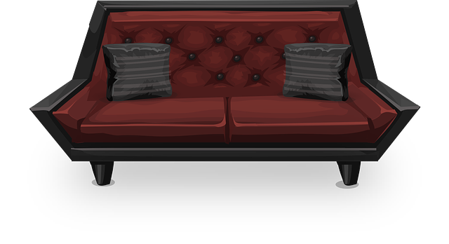 Free Vector Graphic Couch Sofa Loveseat Red Seat