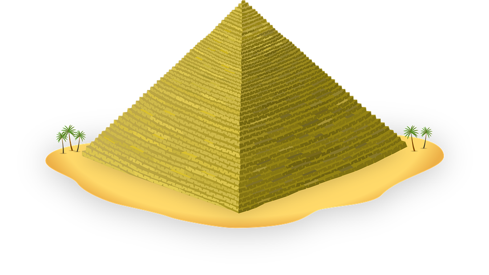 Egyptian Pyramid Architecture free vector graphic: pyramid, egypt, ancient, egyptian - free