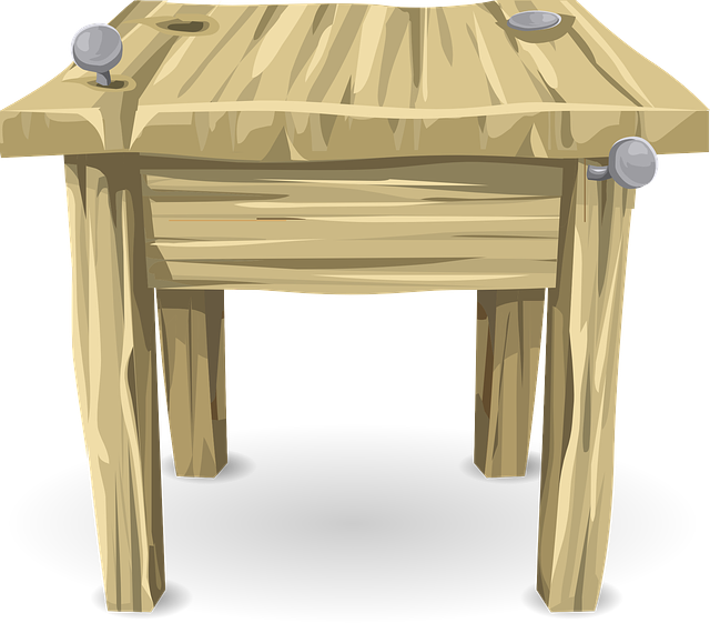 table desk wood  u00b7 free vector graphic on pixabay