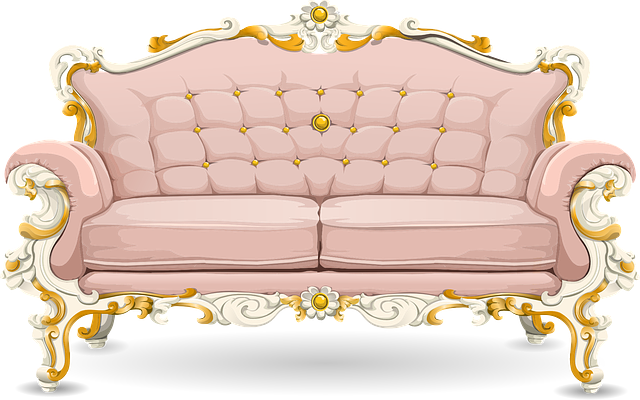 Free Vector Graphic Couch Sofa Loveseat Pink Ornate