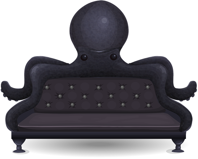 Free Vector Graphic Couch Sofa Loveseat Octopus Free