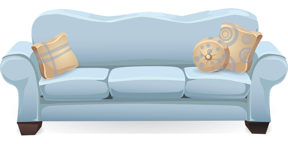 Couch Sofa Blue Free Vector Graphic On Pixabay