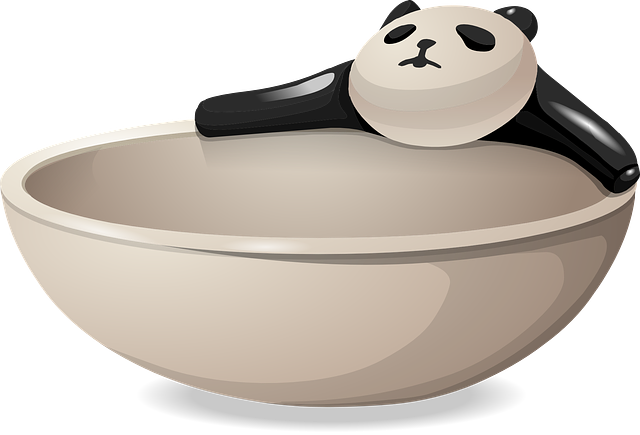 Free Vector Graphic Bowl Dish Panda Bear Dishware