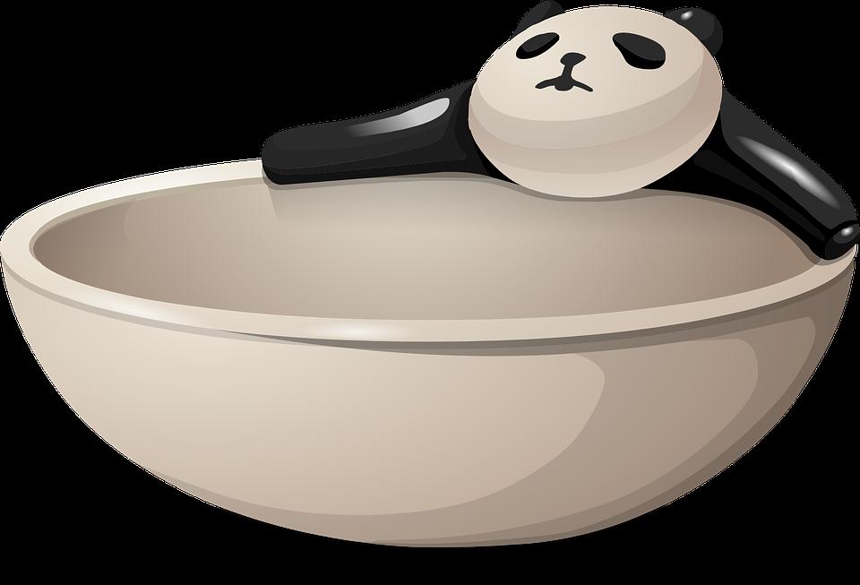 free vector graphic  bowl  dish  panda  bear  dishware - free image on pixabay