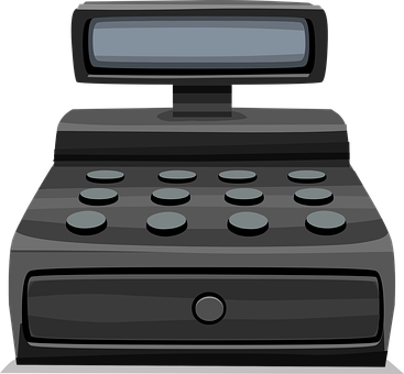 Cash Register, Register, Retail, Store