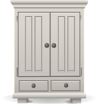 Wardrobe clipart black and white  Cupboard Images · Pixabay · Download Free Pictures