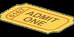 ticket, admission, cinema