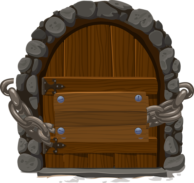 Free Vector Graphic Door Closed Chain Wooden Free