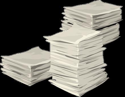 論文, スタック, ヒープ, ドキュメント, ビジネス, 書類, 情報, 積層
