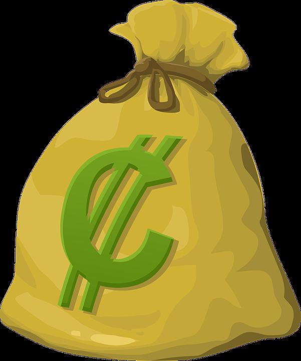 Dinero, Bolsa, En Efectivo, Moneda, Dólares, La Riqueza