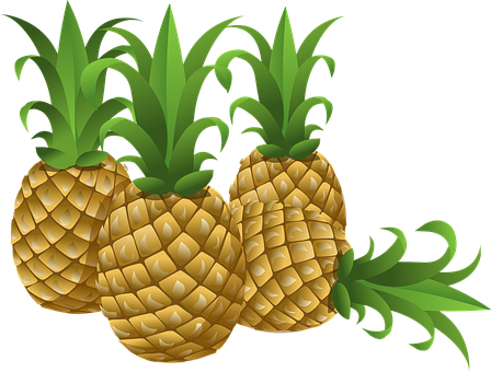 Pineapples, Tropical, Fruits, Foods