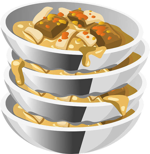 Messy Cups Plates: Dishes Bowls Food · Free Vector Graphic On Pixabay