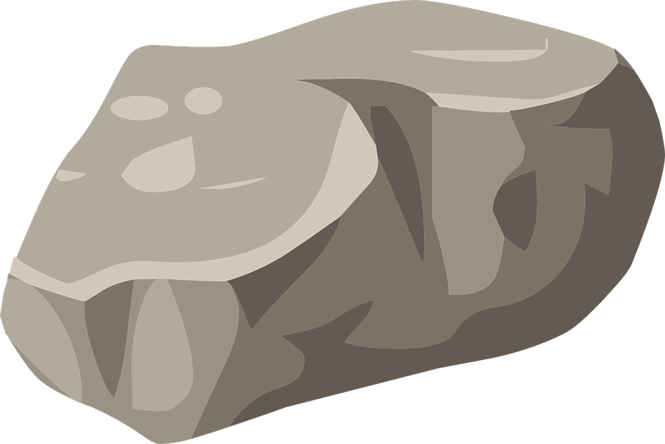 Stone Clip Art : Rock boulder stone · free vector graphic on pixabay