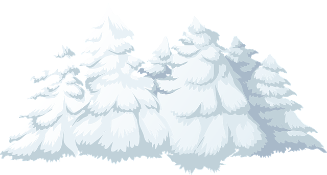 free vector graphic  trees  snow  snowfall  covered