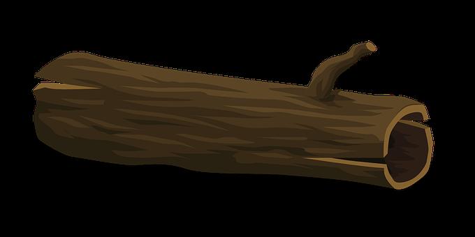 Tree, Log, Fallen, Cartoon, Nature