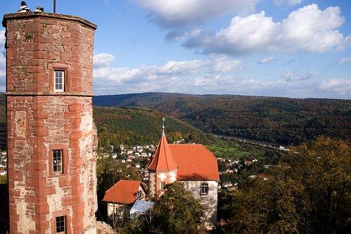 Dilsberg, Odenwald, Burg, Deutschland