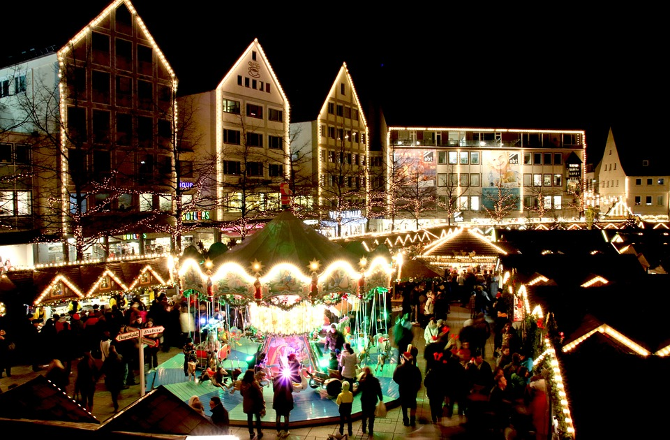 Christmas Market, Ulm, Lights, Market, Lighting