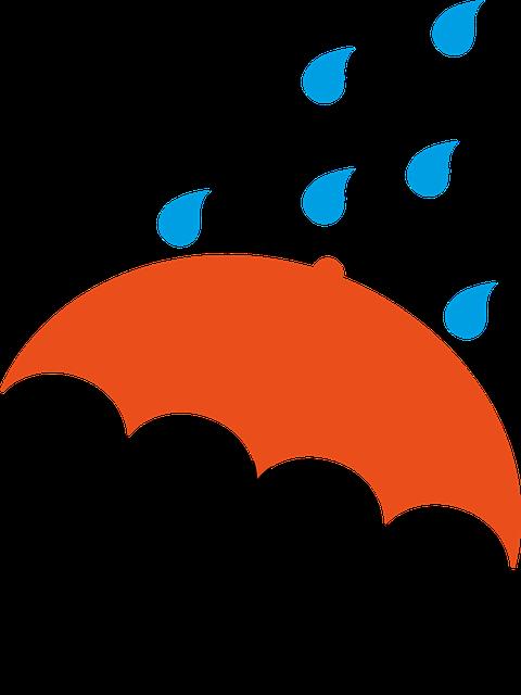 Parapluie orange gouttes images vectorielles gratuites - Parapluie dessin ...