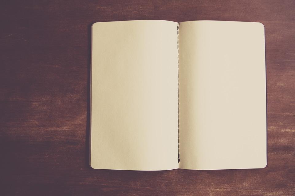 真っ白なノート