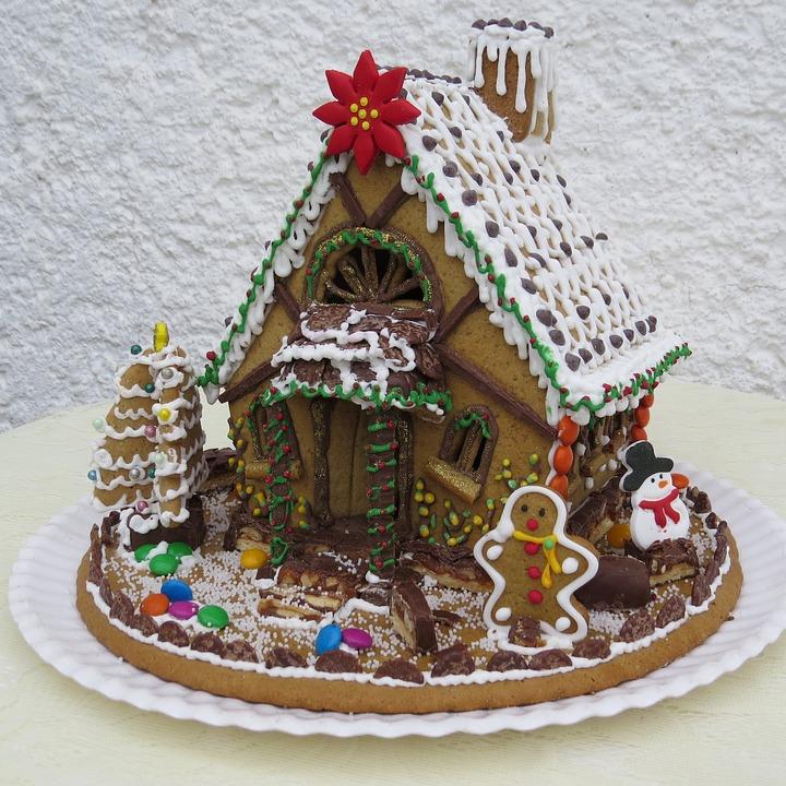 foto gratis casa di marzapane dolci di natale immagine
