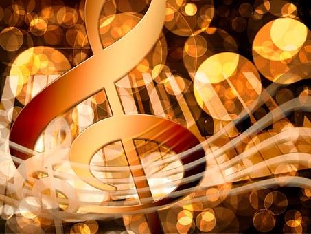 Música, Piano, Clave De Sol, Clave