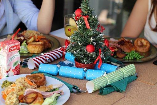 Рождество, Обед, Стол, Питание