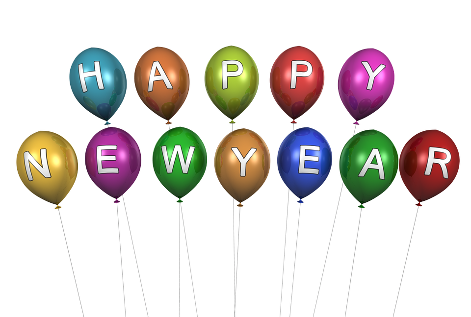 new year happy new year balloon decoration many