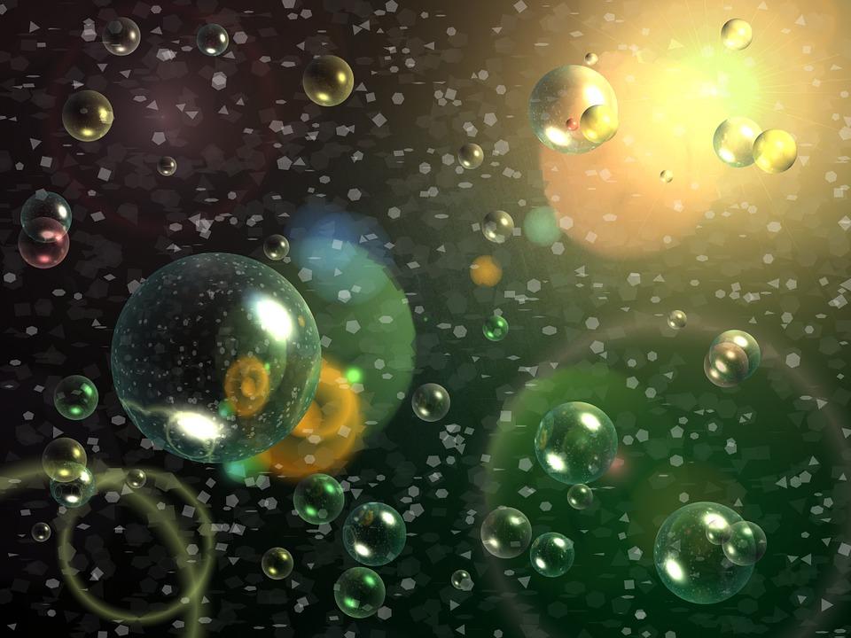Radiazione cosmica di cartone animato pianeti nello spazio premium