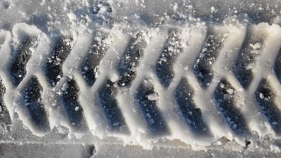 Tire Track, Snow, Reprint, Profile, Pattern, Winter
