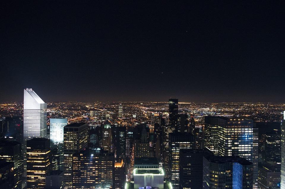 Buildings Night New York City 183 Free Photo On Pixabay