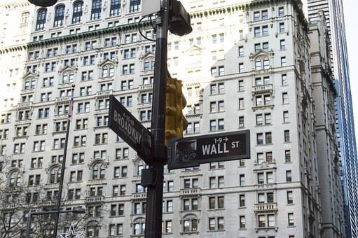 ウォール街, 金融, ニューヨーク, 壁, 通り, ビジネス, ファイナンス