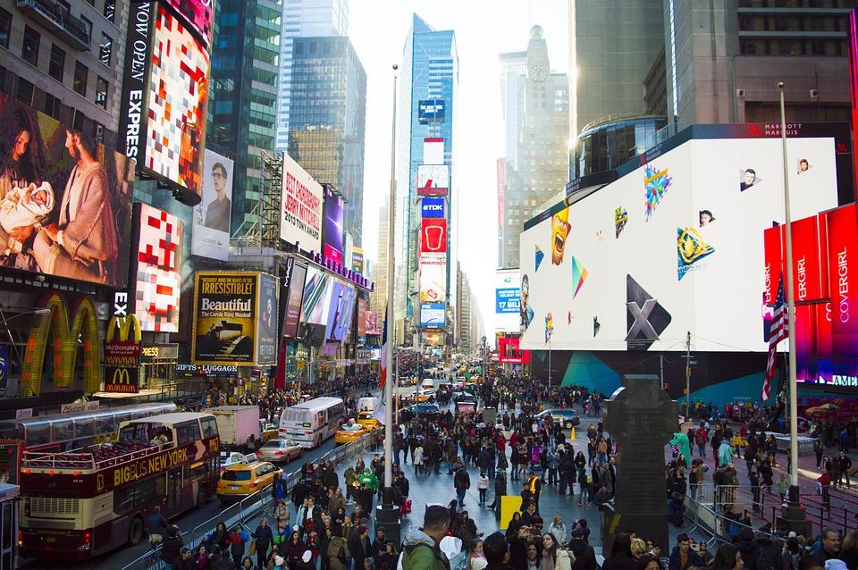 Times Square, Stadt, Manhattan, Städtischen, Reisen
