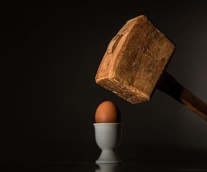 Egg, Hammer, Threaten, Violence, Fear