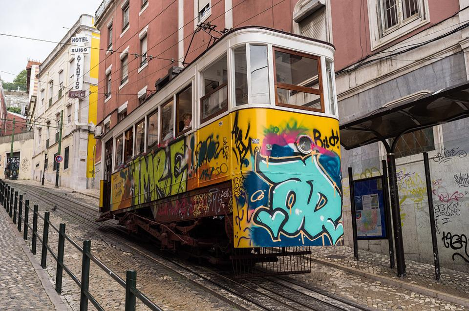 Tram, Lisboa, Steep, Cart, Europe, Tramway, Tourism