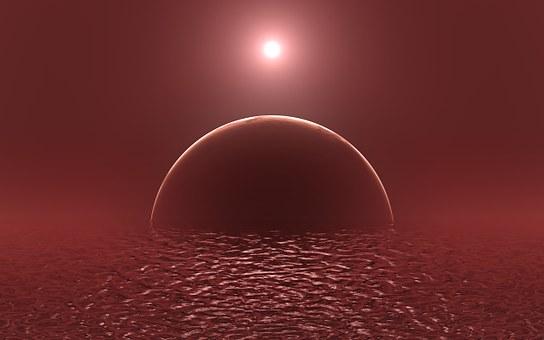 Alien Planet, Exoplanet, Ocean, Exomoon