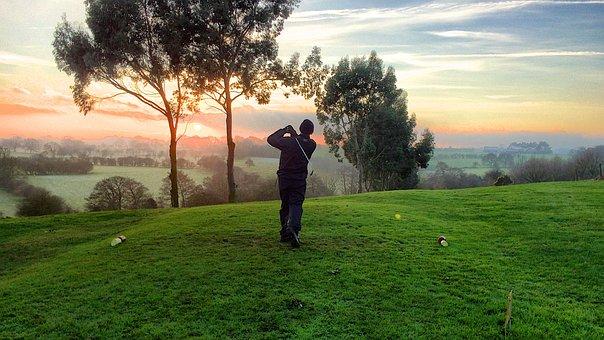 Golf, Golfer, Hit, Sports, Grass, Green