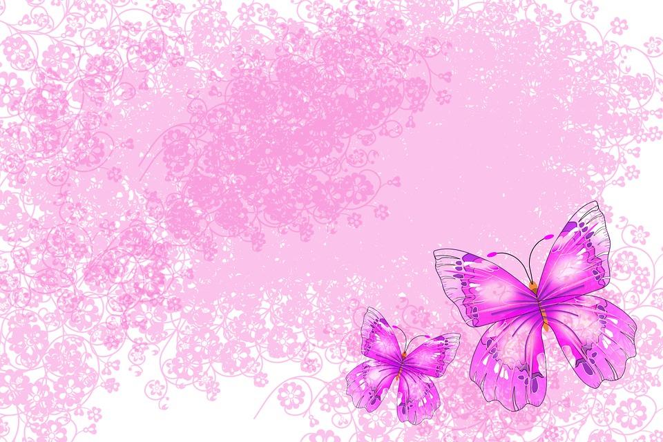 Illustrazione gratis farfalle sfondo rosa immagine for Sfondi farfalle gratis