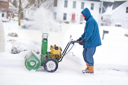 Snow Blower, Man, Work, Winter, Snow