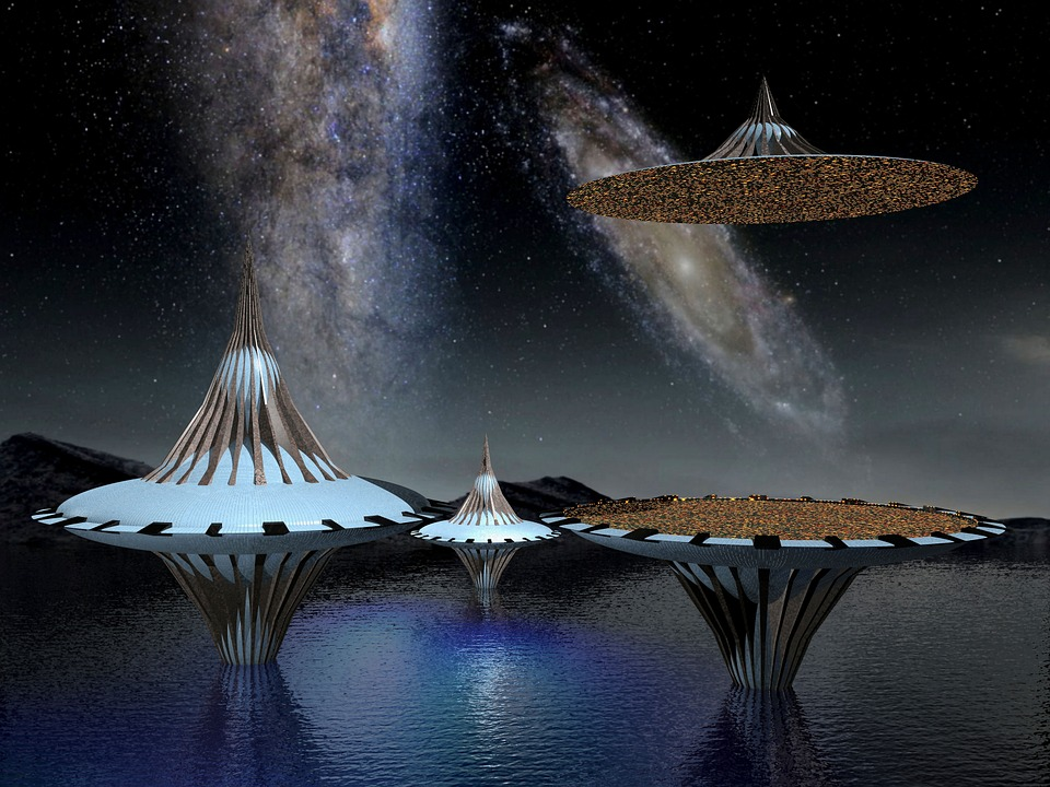 Free Illustration: Spaceship, Ufo, Space, Galaxy, Star